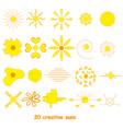 set of suns elements for design vector image