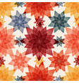 abstract flowers seamless pattern background vector image vector image