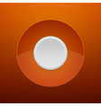 Abstract White Button on Orange Background vector image