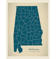 Alabama county map vector image