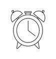 back to school clock alarm time icon vector image