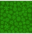 Bacteria Virus Microbe Seamless Pattern vector image vector image