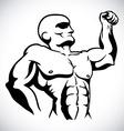 bodybuilding design vector image vector image