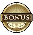 bonus gold award vector image