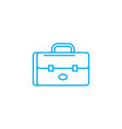 brief bag linear icon concept brief bag line vector image