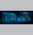 car auto service infographics hud style vector image vector image