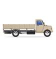 cargo truck 05 vector image