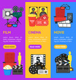 cartoon cinema color banner vecrtical set vector image vector image
