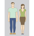Caucasian Couple vector image vector image