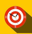 clock icon flat design time symbol vector image vector image