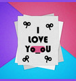 colorful poster the material design i love you vector image