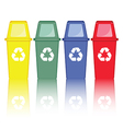 Colorful recycle bins vector image