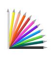 colour pencil set vector image vector image