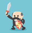 Concept Businessman holding a sword fight vector image vector image