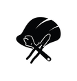 construction tin hat with tools black vector image vector image