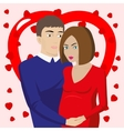 Couple in love expecting a baby vector image
