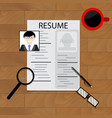 create resume concept vector image vector image