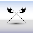 Crossed battle axes vector image vector image