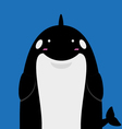 cute big fat killer whale orca vector image vector image