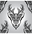 deer head seamless pattern vector image vector image