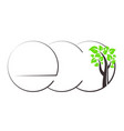 eco symbol and tree vector image vector image