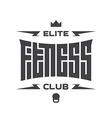 Elite Fitness Club - emblem or logo with original vector image vector image