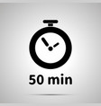 fifty minutes timer simple black icon with shadow vector image vector image