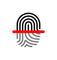 Fingerprint scan vector image vector image