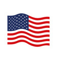 flag united states of america wave colorful icon vector image vector image
