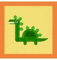 flat shading style icon cartoon dinosaur vector image vector image