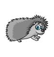 Gray smiling hedgehog character vector image