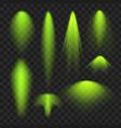 green spotlight light effect vector image