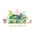 greenhouse planting plant pavilion decorative vector image vector image