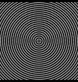 halftone black and white abstract circle pattern vector image vector image