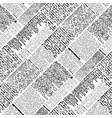 halftone newspaper pattern vector image vector image