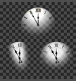happy new year 2020 white clock arrows isolated vector image vector image
