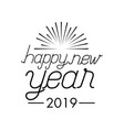 happy new year celebration vector image vector image