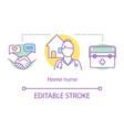 home nurse concept icon vector image vector image