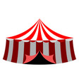 islated carnival tent icon vector image