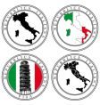 italian stamp vector image vector image