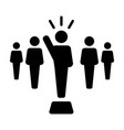 leader icon male public speaker person symbol vector image vector image