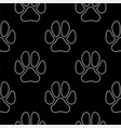 Line art dog paw prints seamless pattern