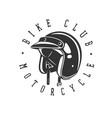 logo helmet vintage vector image