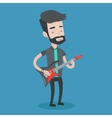 Man playing electric guitar vector image vector image