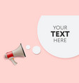 megaphone white bubble for social media marketing vector image