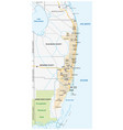 miami metropolitan or greater miami area map vector image vector image