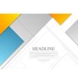Minimal tech geometric brochure design vector image vector image