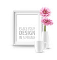 mock up frame wall of the interior background vector image vector image