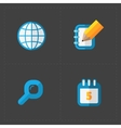 Modern colorful flat social icons set vector image vector image