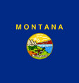 montana state flag vector image vector image